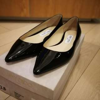 全新Jimmy Choo 黑色平底鞋 New Jimmy Choo Ballerinas *authentic*