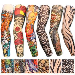 TATTOO DESIGN ARM STOCKING SLEEVE SUNBURN PROTECTION PAIR