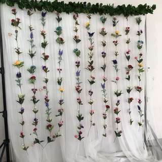 Flower Trail Backdrop Qyop