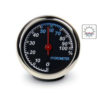 Dekorasi Mobil Hygrometer - Black