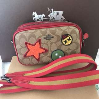 Coach Crossbody With Varsity Patches