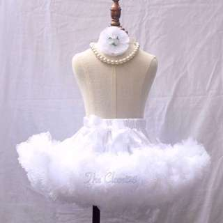 3Layered white pettiskirt - -