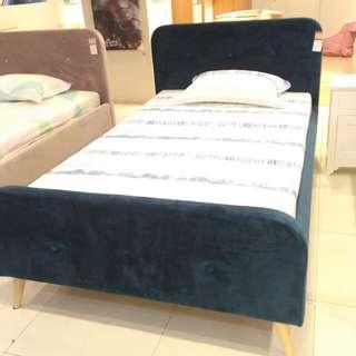 Anya Soft Bed Velvet Blue Dp 0%