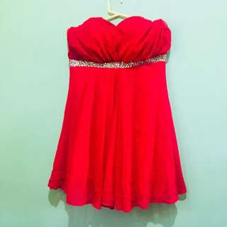 Red Cocktail Semi Formal Dress
