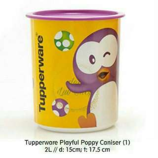 Tupperware poppy canister