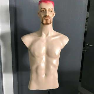 Half body FUNKY male fibre glass mannequin model - PRELOVED