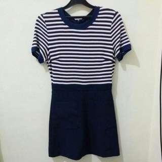 Stripe Casual Dress (freeong)