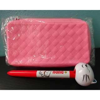 全新🔅粉紅格子筆袋🔅