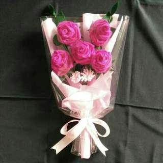 Buket bunga flanel/hadiah wisuda/ulang tahun/spesial moment penting lainnya