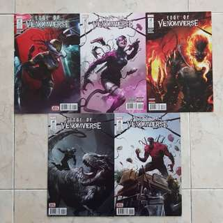 Edge of Venomverse (Marvel Comics 5 Issues Limited Series, #1 to 5 complete story arc)