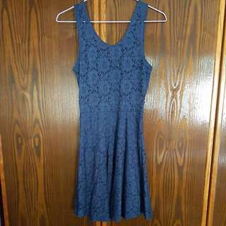 Blue Laced dress