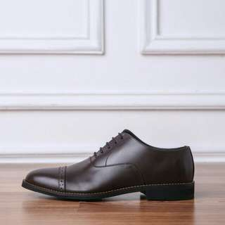 Clement Oxford Captoe Coklat Tua Heiden Shoes