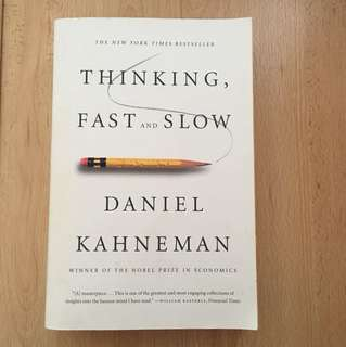 Thinking Fast and Slow - Daniel Kaheneman BOOK