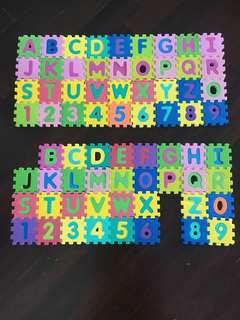 Alphabets & Numbers Foam Puzzle (2 Sets)
