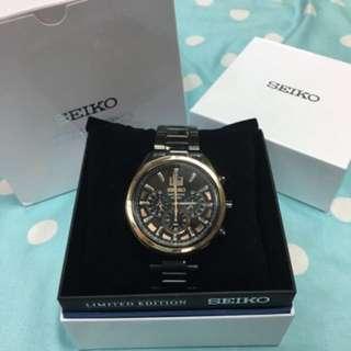 放售,SEIKO全球限量3000隻黑鋼手錶(全新)有意請留言/pm