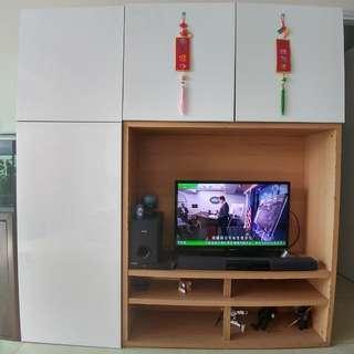 IKEA BESTA 電視地櫃 180cmW 40cmD 192cmH