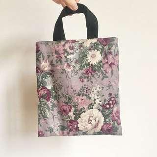日本購入 日本製花朵小提袋 附面紙袋