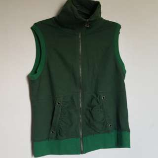 Green Turtle Neck Vest