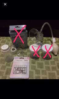 Manual Breast Pump + Nappy Pins
