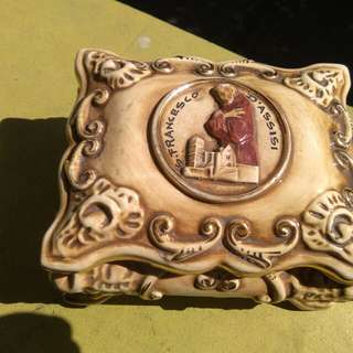 Vintage Deruta St.  Francis of Assisi made in Italy