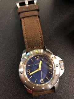 Maranez 藍面潛水錶全套 (配兩套錶帶)