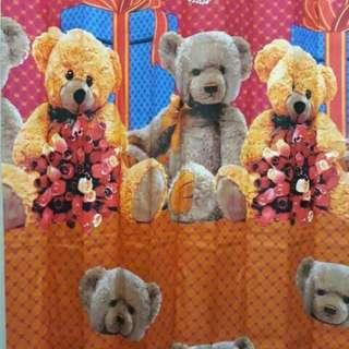 Gorden teddy beard Bahan tebal dingin Uk 100*190