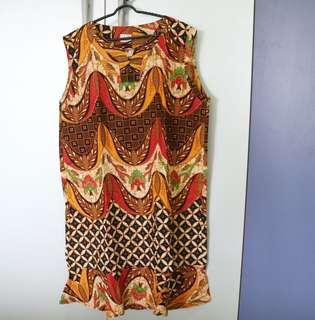 Dress batik (coklat)