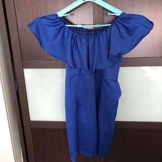 Off shoulder Shift Dress