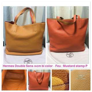 Hermes bag double send 36cm bi color