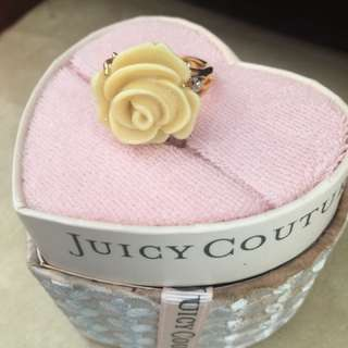 Juicy Couture Pave Petals Adjustable Ring