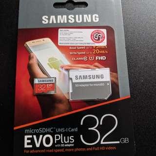 Samsung EVO Plus MicroSDHC (UHS-1) 32Gb w/ Adaptor