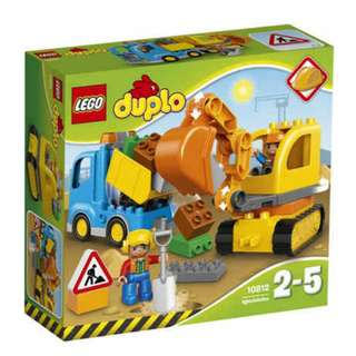 Lego Duplo Train & Tracked Excavator 10812