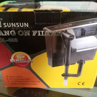 Sunsun HBL-403 hang on filter for fish tank aquarium
