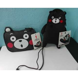 全新🔅熊本熊購物袋+頸掛包🔅