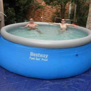 💦Bestway fast set round pool