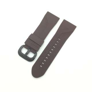 28mm Brown Silicon Rubber Replacement Watch Strap Watchband for Sevenfriday