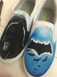 Hand drawn shoes (Batman)