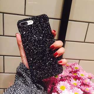 Shimmering powder case for iphone 6,7 and 8