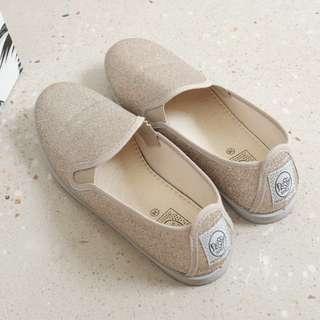 Flossy glitter slip-on sneakers (EU38)