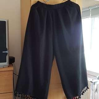 Fringe Wide Leg Pants