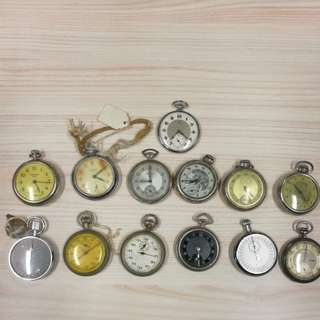 Vintage pocket watches lot.