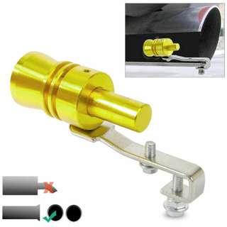 Penyiul Turbo Palsu Kenalpot Mobil Size L 2.0 - 2.4 - Golden