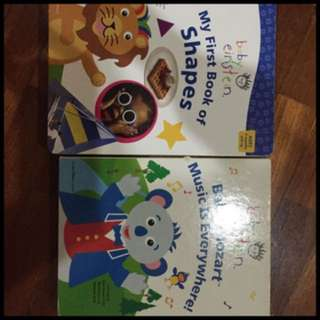 Pre-loved baby einstien shapes and music books