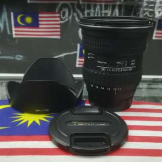 USED TOKINA SD 11-16MM F2.8 IF DX WIDE LENS