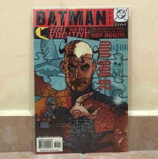 DC Comics  Batman Bruce Wayne fugitive not gulity