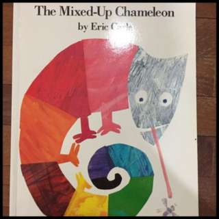 Pre-loved soft cover eric carle book - the mixed up cameleon