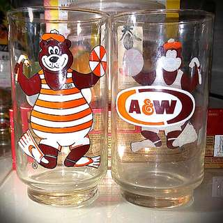 $5 A&W Water Glass. 4 for $15