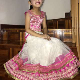 Kids Pink Lengha Set (Preloved)
