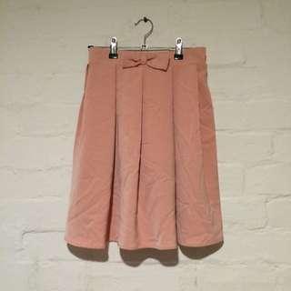 Ribbon-Detail Knee-Length Skirt