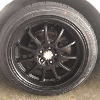 """17"""" rim and tyres"""